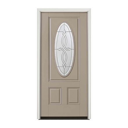 Encompass by Pella 3 Panel Oval Entry Door with Glass